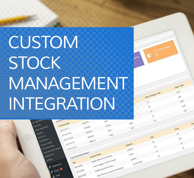 Custom Stock Management Integration