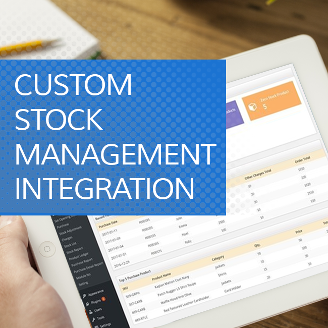 Custom Stock Management Integration