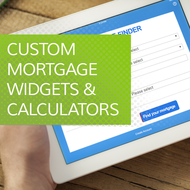 Mortgage Widgets and Calculators