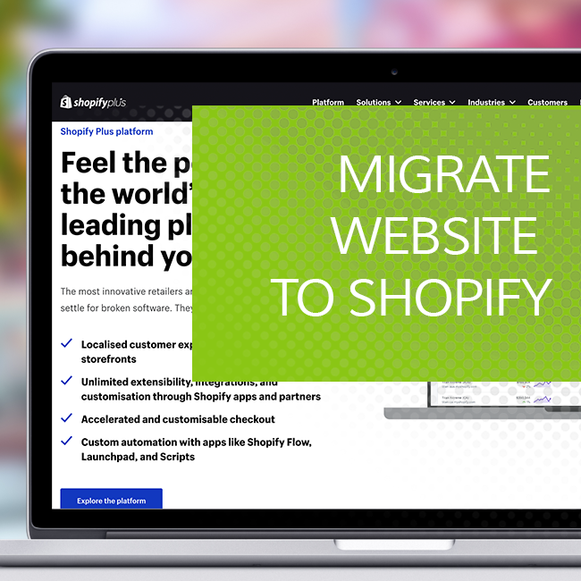 Migrate website to Shopify